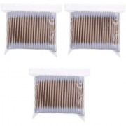 Wooden Stick Double Head Tips Natural Pure Cotton Swabs Ear Cleaning Picks Buds - 300 Pcs