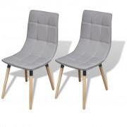 vidaXL 244152 Dining Chairs 2 pcs Light Grey