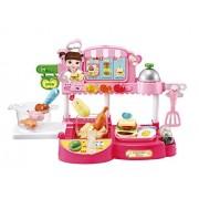 English Package Kongsuni Restaurant, Children Cooking Kitchen Dinner Playset, Food Assortment - Be Cook, Server, Or Customer
