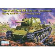 KV-1 Russian heavy tank, model 1941, early version tank makett Eastern Express EE35084