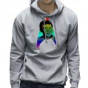 Cloud City 7 Rainbow Hikaru Sulu George Takei LGBTQ stolthet Star Trek Mäns Hooded Sweatshirt Heather Grey Medium