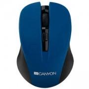 Мишка CANYON, Wireless, Optical 800/ 1000/ 1200 dpi, USB, Синя, CNE-CMSW1BL
