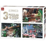 Puzzle King - Animals Collection, 3x1.000 piese (05206)