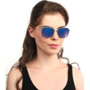 Djorn Rectangular Sunglasses(Blue)