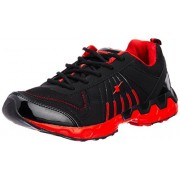 Sparx Men's Black and Red Mesh Running Shoes (SX0193G) - 6 UK