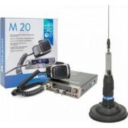 Kit Statie radio CB Midland M20 + Antena Midland ML145 cu magnet 120/pl