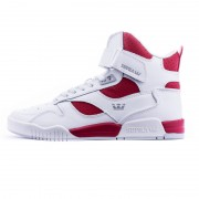 Supra Bleeker white/red