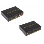 2 Port HDMI Splitter with Audio Decoder HDMI Audio Extractor 4k Ultra HD