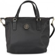 Tommy Hilfiger Women Casual Black Synthetic Fabric Tote