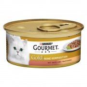 Gourmet Gold Doble Placer 24 x 85 g - Buey y pollo