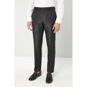 Mens Next Slim Fit Paisley Jacquard Suit: Trousers - Black