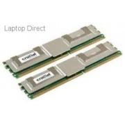Crucial 8GB kit (2x4GB) 667MHz DDR2 Fully Buffered ECC Memory Module