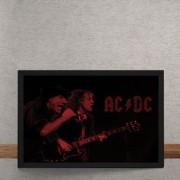 Quadro Decorativo AC DC Vermelho 25x35