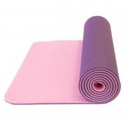 mașină de spălat pe yoga Yate YOGA MAT Dublu strat întuneric violet / roz