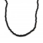 Collin Rowe Collier de perles en bois noir
