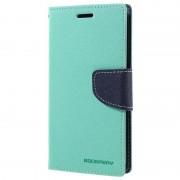 Bolsa tipo Carteira Mercury Goospery Fancy Diary para Samsung Galaxy S7 - Ciano / Azul Escuro