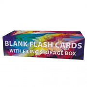 Debra Dale Designs - Blank 3ds Big Hole Punched Flash Cards - 9.75 x 2.5 Inches - 6 Colors - 6 Rings - Flash Card...