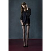 Fiore Charleston - 20 denier mock suspender tights with diamond pattern