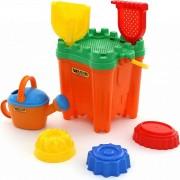 """Jucarii de plaja pentru copii - Galeata tip """"Castel"""" si accesorii pentru joaca in nisip"""
