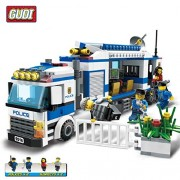 Generic GUDI Police Mobile Command Center Blocks 407+pcs Police Truck Model Building Toy Birthday Gift Educational Toys for Children