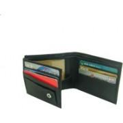 Essart Men Casual, Formal Black Genuine Leather Wallet(7 Card Slots)