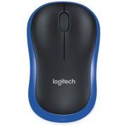 Logitech Funkmaus LOGITECH M185, optisch, 1000 dpi, blau