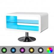 vidaXL TV-bänk LED 80 cm högglans vit
