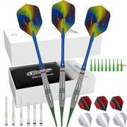 Cyeelife Soft tip Darts Set 18 Grams-3 Packs Sliver Sports Gift PU case-Accessories Bag-3 Colors of Barrels