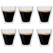 vidaXL Double Wall Latte Macchiato Glasses 6 pcs 280 ml