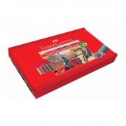 Creioane colorate 36 culori/set FABER-CASTELL Fighting Knights, cutie lemn, FC115837
