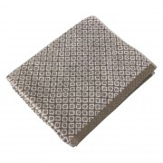 Linnea Drap de douche 70x140 cm SHIBORI mosaic Beige 100% coton 500 g/m2