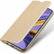 Husa protectie pentru Samsung Galaxy A51 DuxDucis Skin Tip Portofel Auriu
