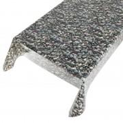 Geen Buiten tafelkleed zeil stenen motief 140 x 170 cm