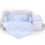 Бебешки спален комплект Lorelli Тренд, мечо парти синьо, 0740444