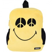 Smiley world Peace Eyes Expression Soft Toy School Bag 14 Inch Yellow by Ultra