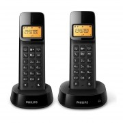 Teléfono Inalámbrico Duo Philips D1402b-Negro