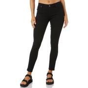 Rusty Spray Cotton Spandex Polyester Zip Button Black Womens Pants