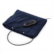 Klarstein Dr. Watson Heatzone L, електрическо одеало, 100 W, 65 x 40 cm, Микроплюш, тъмно синьо (Dr.W.Heatzone L-BL)
