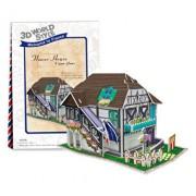 Puzzle 3D Casa cu flori, 31 piese