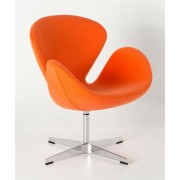 Replica Swan Chair - Wool Blend - Orange