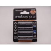 Acumulatori Panasonic Eneloop Pro HR6 AA 2500mAh 1,2V blister 4 BK-3HCDE