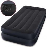 Intex Надуваемо легло с възглавница PVC 99x191x42 см черно 64122