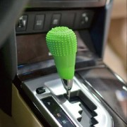 Universele elasticiteit antieslip siliconen auto Gear Shift knop Cover(Green)