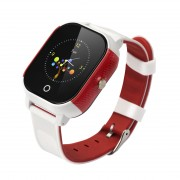 FA23 Two Way Voice Calling Touch Screen Waterproof Anti-Lost Smart GPS Watch for Kids - White/Red