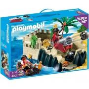 Playmobil 4007 - Superset Repère Des Pirates