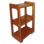 carrello in legno dante - 50x40xh.77cm - 3 ripiani - ciliegia