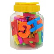 Oytra Alphabets Jar Toy | Set of 50 pcs Magnetic Alphabet and Numbers | Reading & Writing Skills, Memory Building | Gift