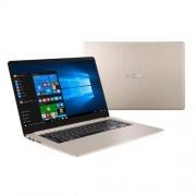 "ASUS VivoBook S510UA-BQ132T Intel i3-7100U 15.6"" FHD matny UMA 4GB 128GB SSD WL Cam FPR Win10 CS zlatý"