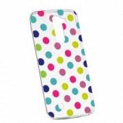 Husa Silicon Transparent Slim Dots Color LG K8