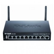 Рутер D-Link DSR-250N, 300 Mbps, 2.4GHz(300 Mbps), Wireless N, 8x LAN 1000, 1x WAN 1000, 1x USB 2.0, 2x външни антени